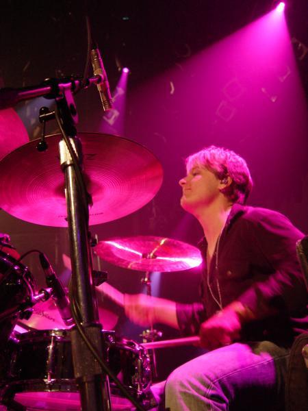 Kyle on drums